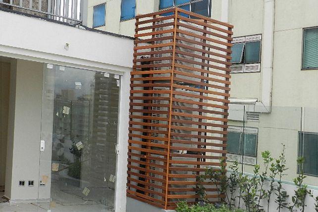 Caixa para ar condicionado em Cumaru