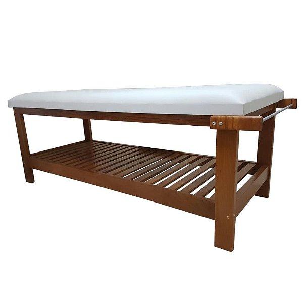 Maca Para Massagem Fixa em Madeira, com suporte para o rosto e papeleira - Modelo Soft Multiforma