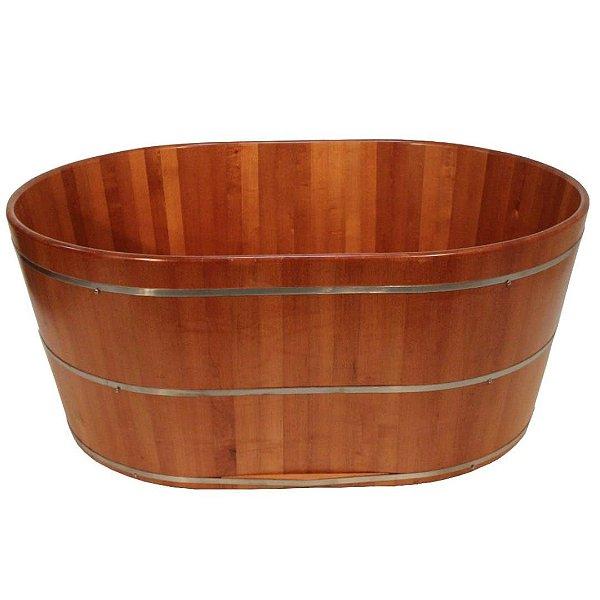Ofurô Oval Padrão Casal - Ofurô confeccionado em madeira - MULTIFORMA.