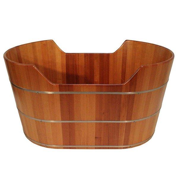 Ofurô Oval Casal com Espaldar - Ofurô confeccionado em madeira - MULTIFORMA.