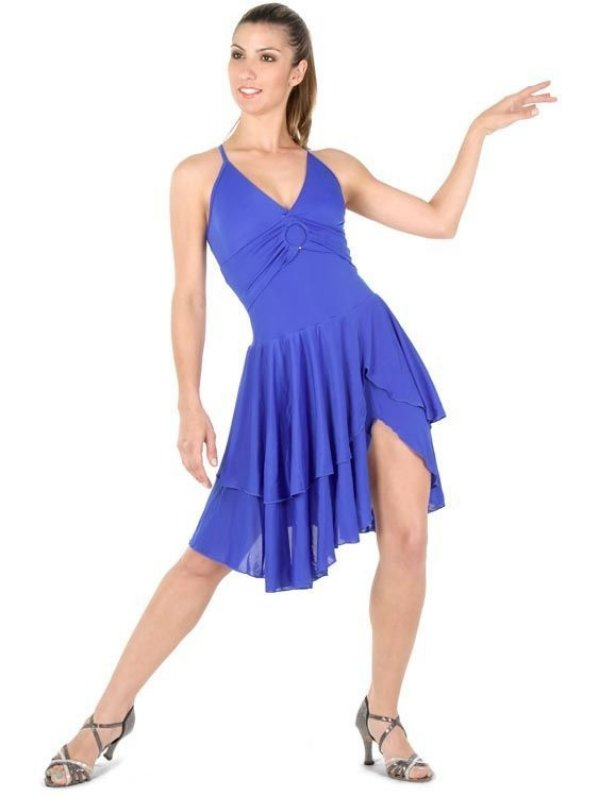 Vestido com Saia Dupla Capezio