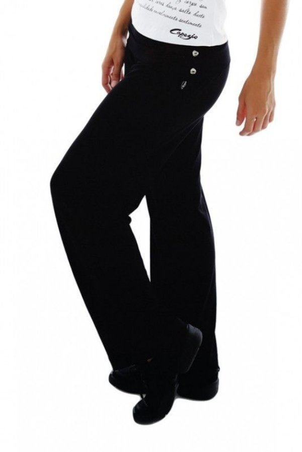 Calça Pantalona com Cós e 3 Botões