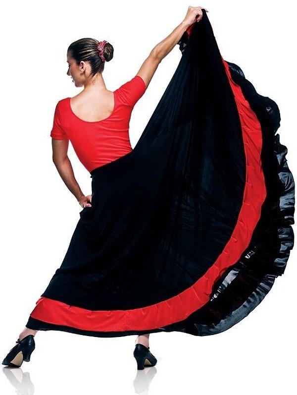 Saia Flamenco em Liganete Capezio