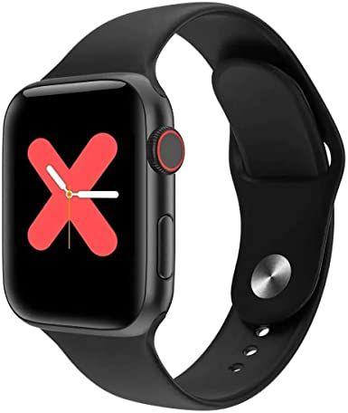 Relógio Inteligente W68 Iwo12 Lite Smartwatch 44Mm Rosa / Preto / Branco