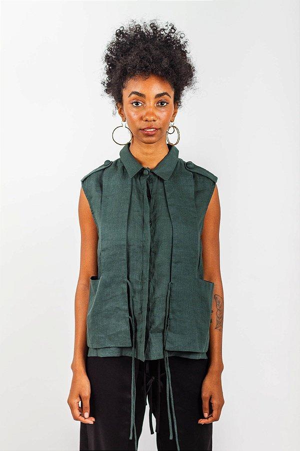 Camisa Colete  - Verde Floresta