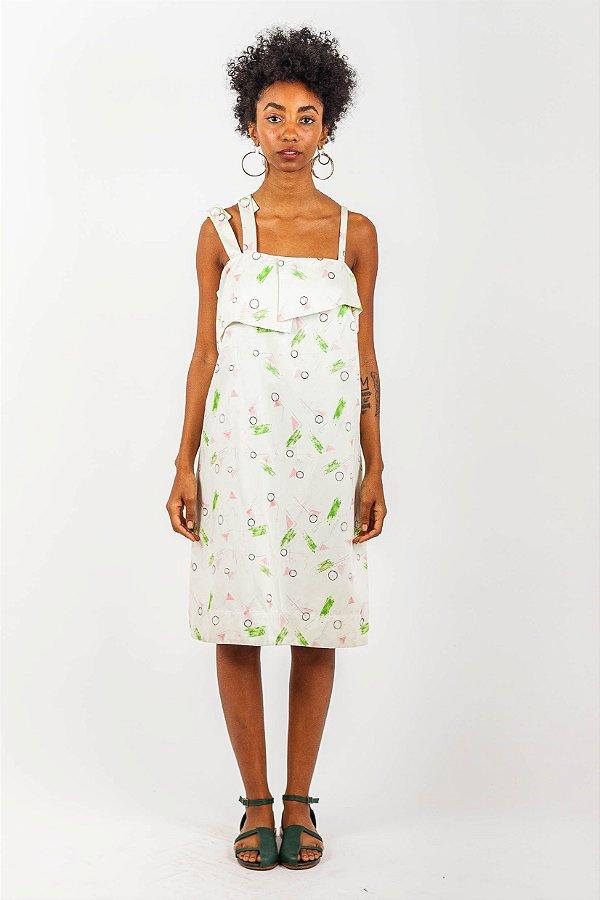 Vestido 3 Alças - Estampa