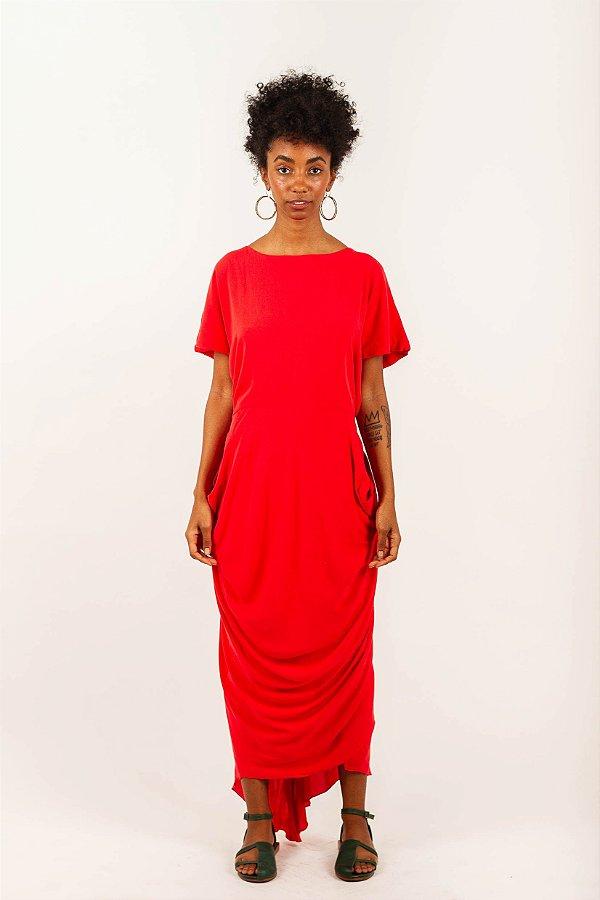 Vestido Sereia - Vermelho