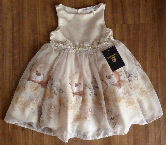 Vestido Bebê Gabriela Aquarela