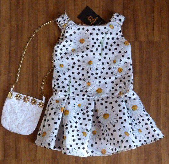 Vestido Infantil com Bolsa