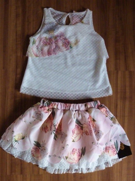 Conjunto Infantil Gabriela Aquarela