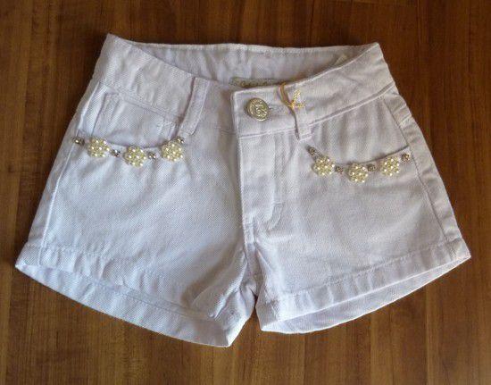 Shorts Infantil Gabriela Aquarela
