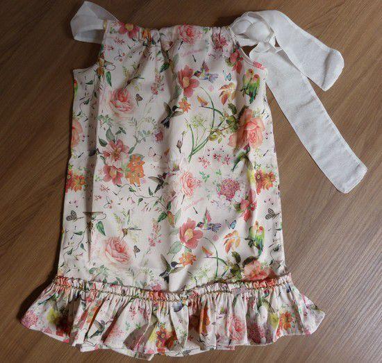 Vestido Infantil Gabriela Aquarela
