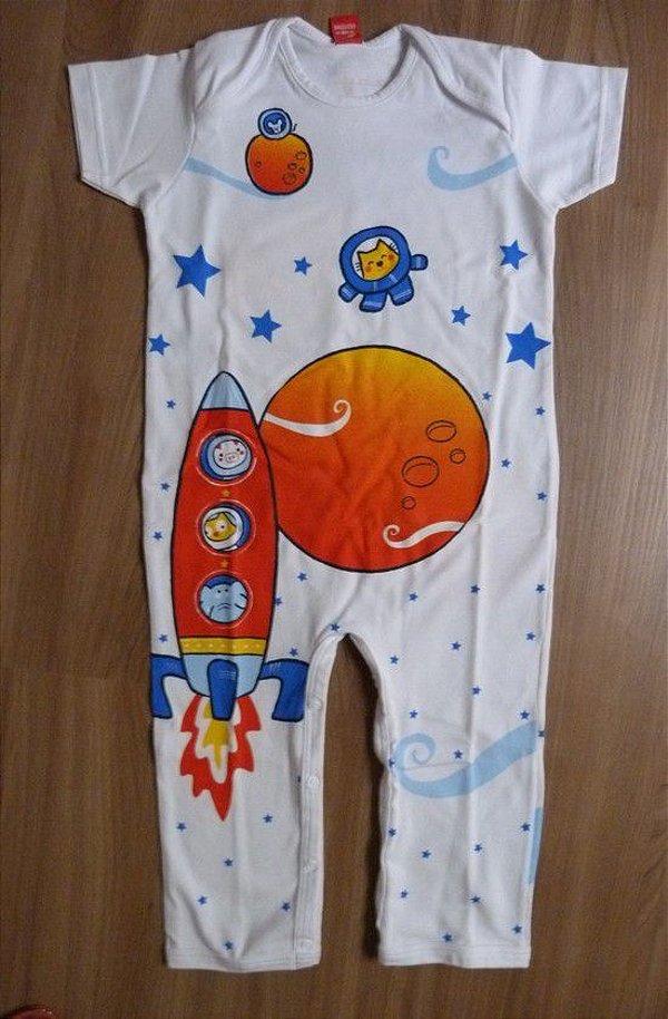 Macacão M/C Astronautas Get Baby