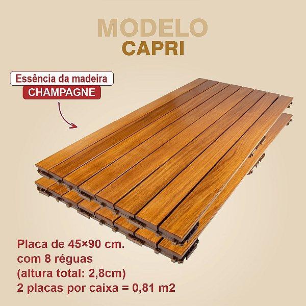 DECK DE ENCAIXE FÁCIL - CAPRI CHAMPAGNE (caixa com 2 placas)