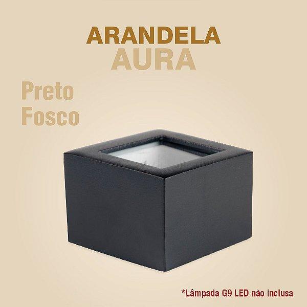 ARANDELA AURA - PRETO FOSCO
