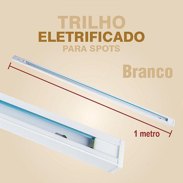 TRILHO ELETRIFICADO PARA SPOTS COM 1 METRO - BRANCO