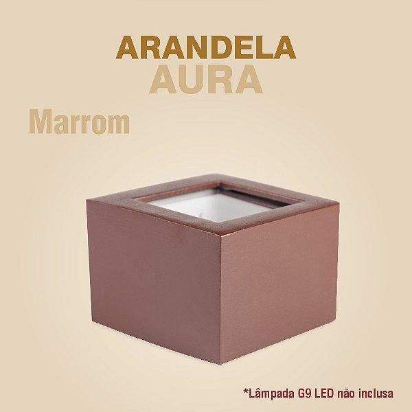 ARANDELA AURA - MARROM