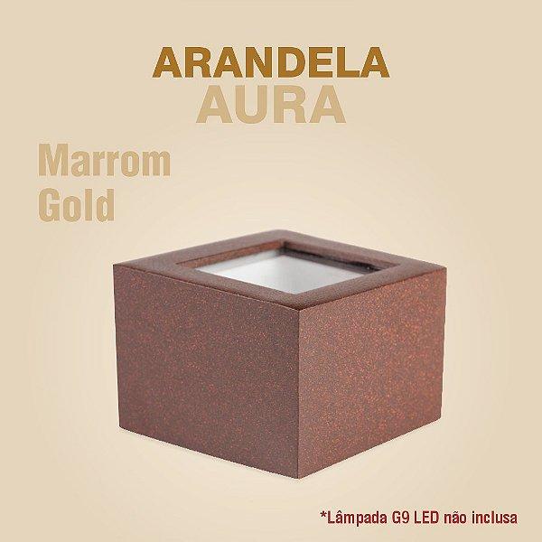 ARANDELA AURA - MARROM GOLD
