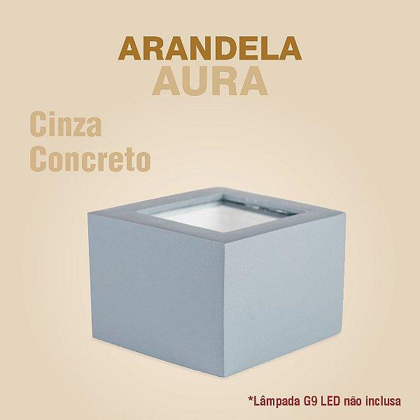 ARANDELA AURA - CINZA CONCRETO