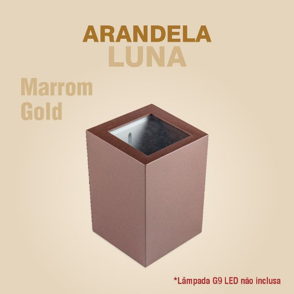 ARANDELA LUNA - MARROM GOLD