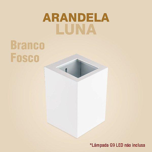 ARANDELA LUNA - BRANCO FOSCO