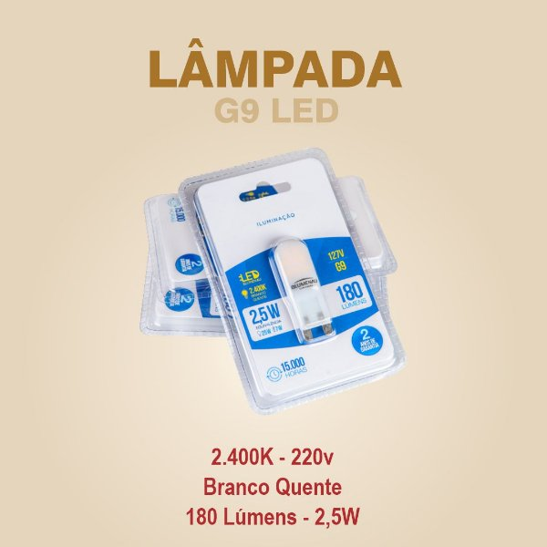 LÂMPADA G9 LED - 220V