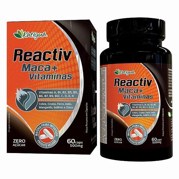 REACTIV MACA + VIT 500MG 60 CAPS KATIGUA