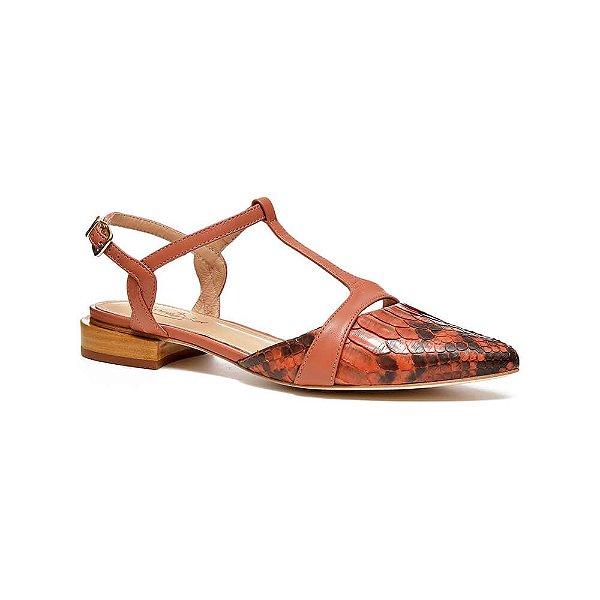 Sapato Feminino Sapatilha Nice Coral