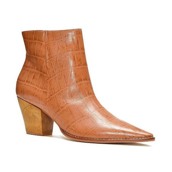 Sapato Feminino Bota Theodora Canela