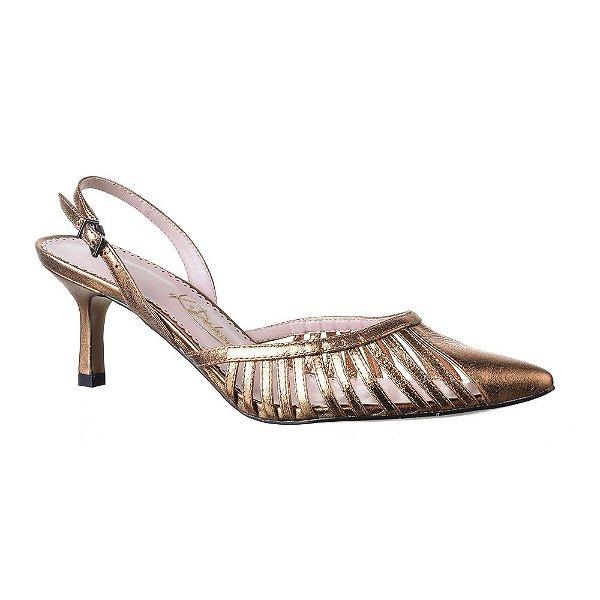 Sapato Feminino Scarpin Micaela Bronze