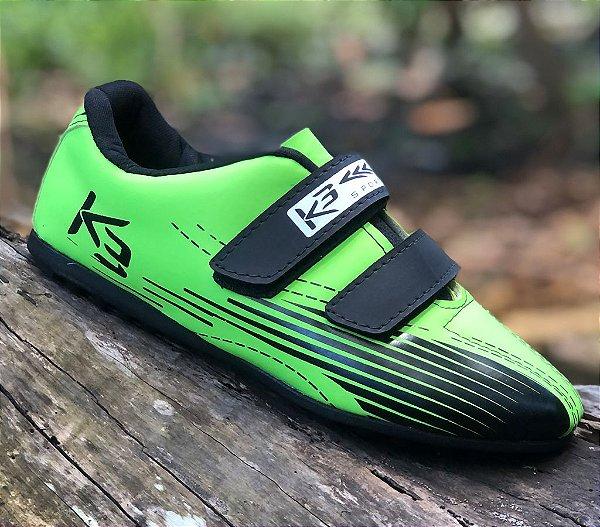 Sapatilha Para Iniciantes Sem Clip K3 Verde com Preto