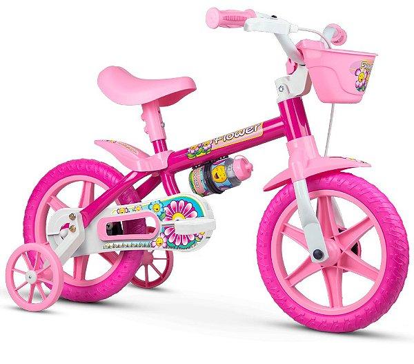 Bicicleta Infantil Aro 12 Flower Nathor