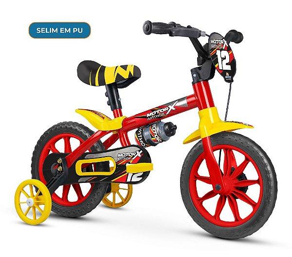 Bicicleta Infantil Aro 12 Motor X Selim em PU Nathor