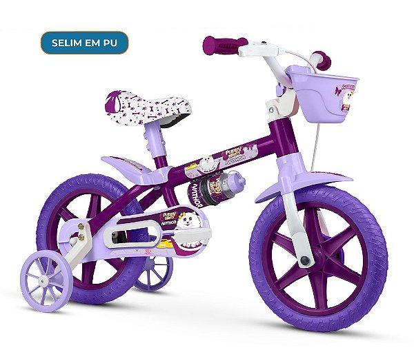 Bicicleta Infantil Aro 12 Puppy Selim em PU Nathor