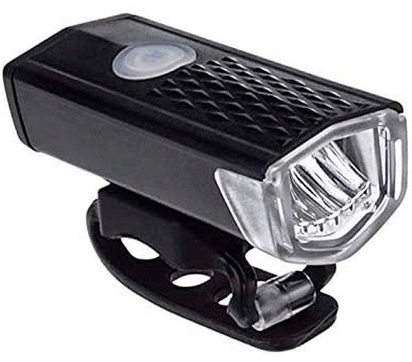 Farol Recarregável USB 3 Modos de luz 300 Lumens Resistente a Água Lanterna Frontal