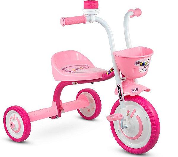Triciclo Infantil You 3 Girls em Alumínio Nathor