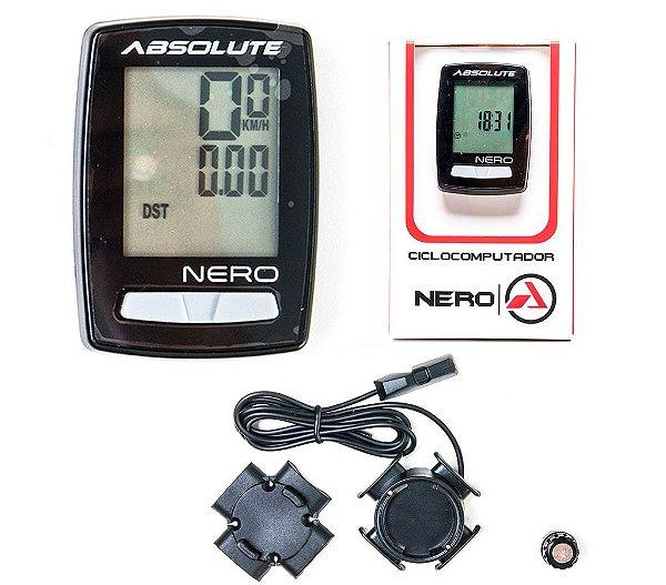 Ciclocomputador Absolute Nero Preto Com Fio