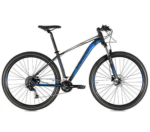 Bicicleta Aro 29 Big Wheel 7.0 OGGI Shimano Alivio 18 velocidades 2021 Preto/Azul/Grafite