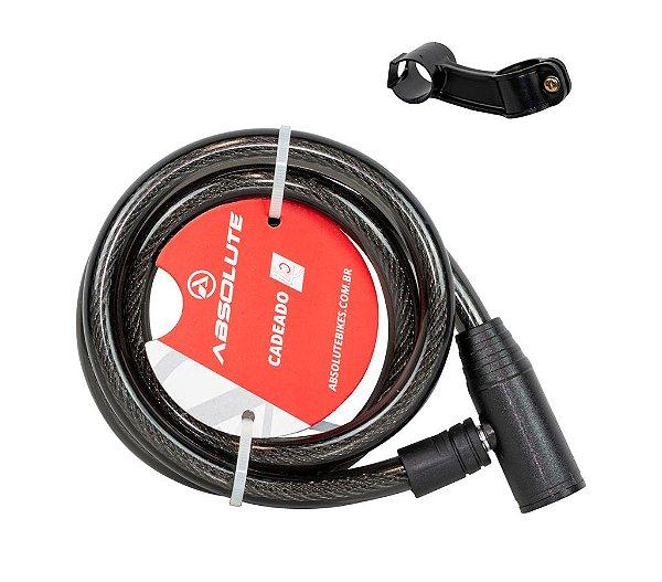 Cadeado Espiral Absolute 1,0m X 12mm Cilindro em Alumínio