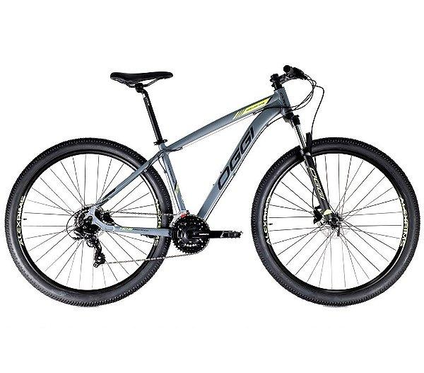 Bicicleta Aro 29 Hacker HDS OGGI Shimano Tourney 24 velocidades 2021 Grafite/Preto