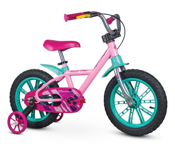 Bicicleta Infantil Aro 14 First Pro Feminina Nathor