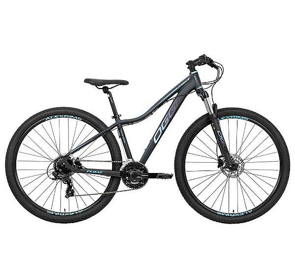 Bicicleta Feminina Aro 29 OGGI Float HDS 5.0 MTB 24 Velocidades Grupo Shimano Tourney Freio Hidráulico