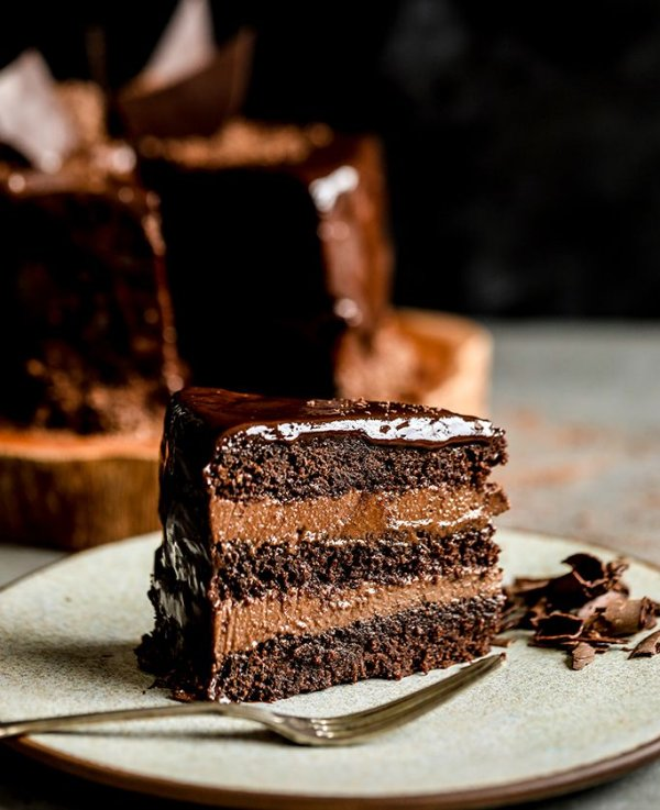 Bolo Mousse de Chocolate - vegano, sem glúten, sem lácteos