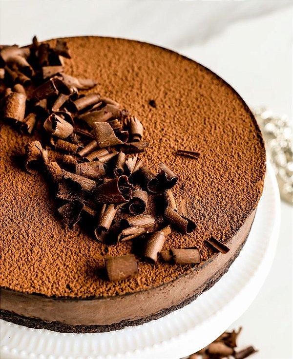 Torta Mousse de Chocolate - Zero Açúcar - vegano, sem glúten e lácteos