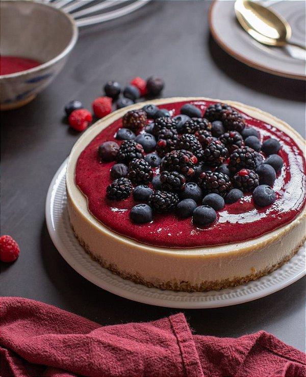 Torta Lemon Berry - Zero Açúcar - vegana, sem glúten, sem lácteos