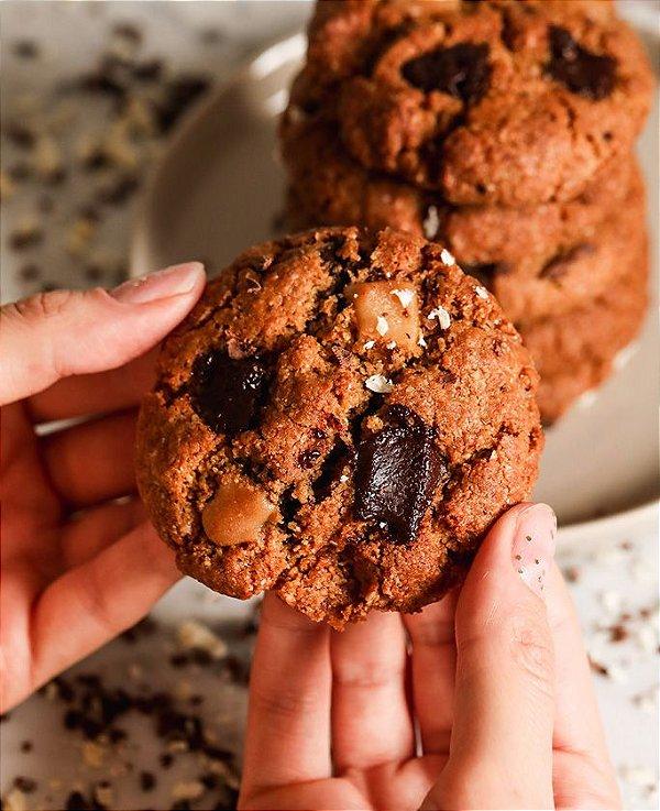Cookies gotas de chocolate - 3 Unid - vegano, sem glúten, sem lácteos
