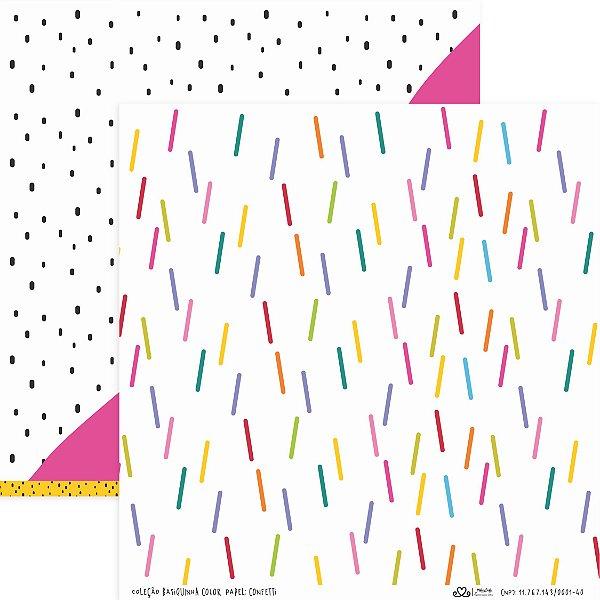 Papel Confetti (Coleção Basiquinha Colors) - Pacote com 15 unidades