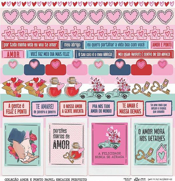 Papel Encaixe Perfeito (Coleção Amor e Ponto) - Pacote com 15 Unidades