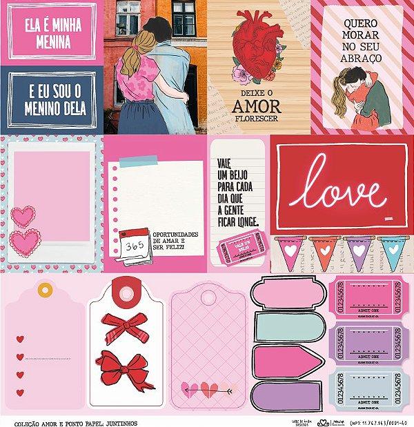 Papel Juntinhos (Coleção Amor e Ponto) - Pacote com 15 Unidades