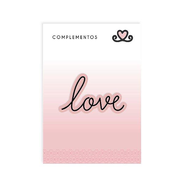 Título Acrílico LOVE ( Coleção Amor e Ponto) - pacote com 3 unidades